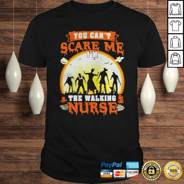 Halloween you cant scare me Im the walking nurse zombie 2020 shirt