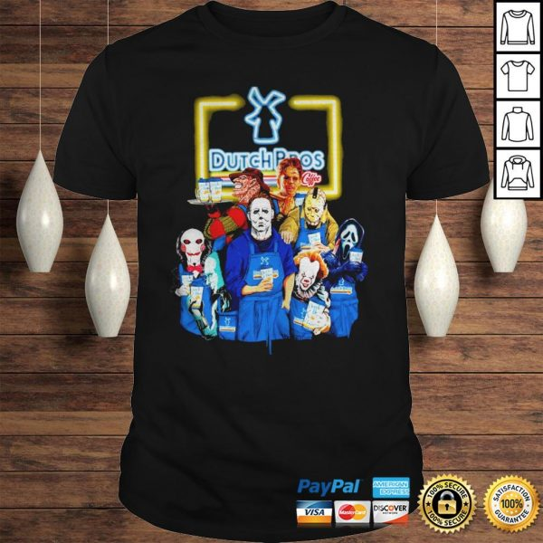 Official Horror Characters halloween Dutch Bros shirt