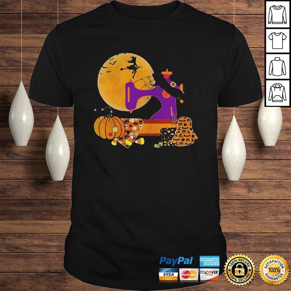 The Sewing Witch Pumpkin Blood Moon Halloween Shirt
