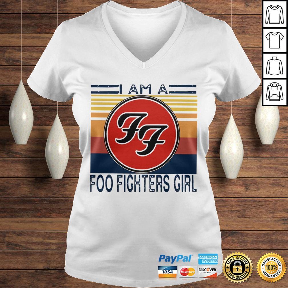 1596255703I am a Foo Fighters girl FF vintage shirt Ladies V-Neck