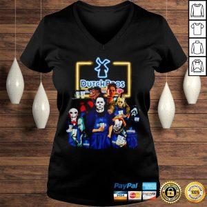 Horror movie characters Dutch Bros coffee shirt Ladies V-Neck