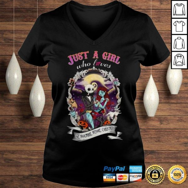 Jack Skellington and Sally just a girl who loves The Nightmare before Christmas shirt