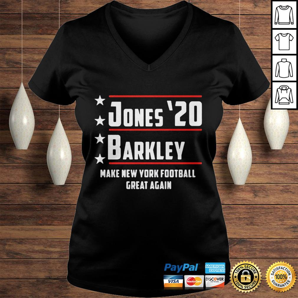Jones 20 barkley make new york football great again shirt Ladies V-Neck