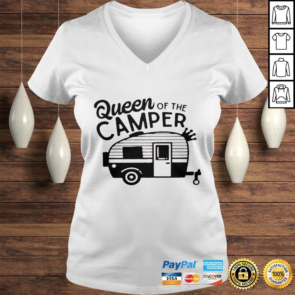 Queen of the camper shirt Ladies V-Neck