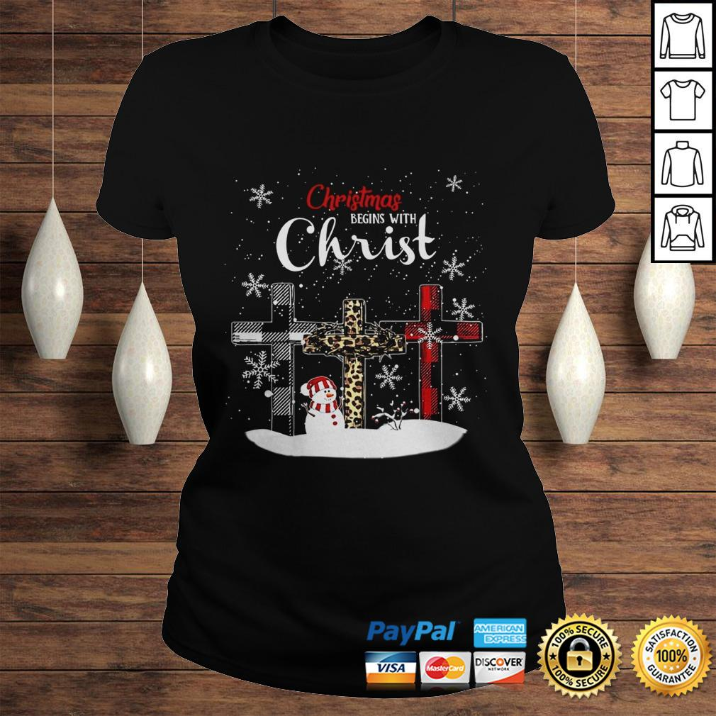 Chrismas Begins With Christ Jesus Christmas Begins With Christ Sublimation Shirt Classic Ladies Tee