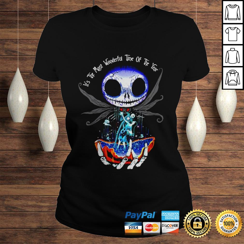 Jack Skellington and Sally its the most wonderful time of the year shirt Classic Ladies Tee