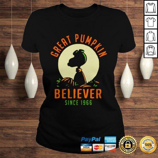 Peanuts great pumpkin believer since 1966 shirt Classic Ladies Tee