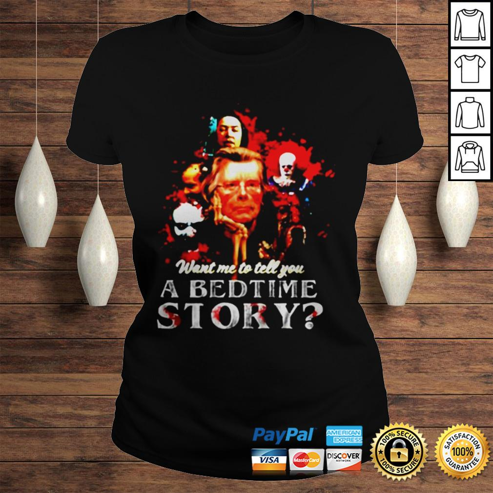 Pennywise want me to tell you a bedtime story Stephen King shirt Classic Ladies Tee
