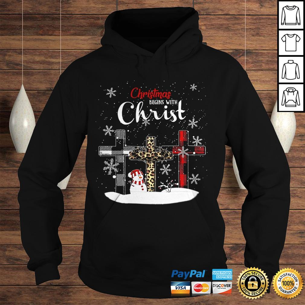 Chrismas Begins With Christ Jesus Christmas Begins With Christ Sublimation Shirt Hoodie