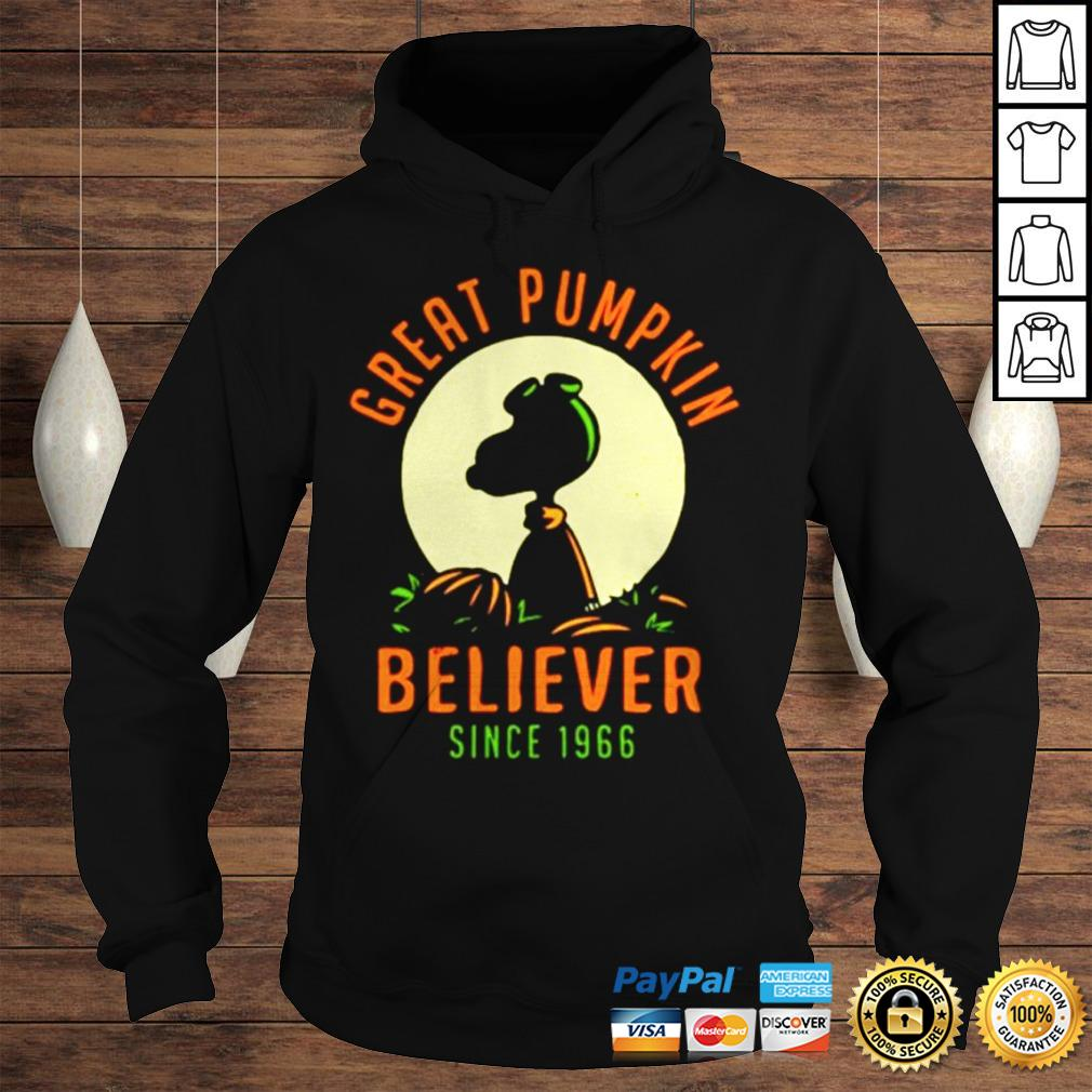 Peanuts great pumpkin believer since 1966 shirt Hoodie