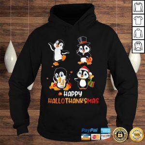 Penguin Happy Hallothanksmas Shirt Hoodie