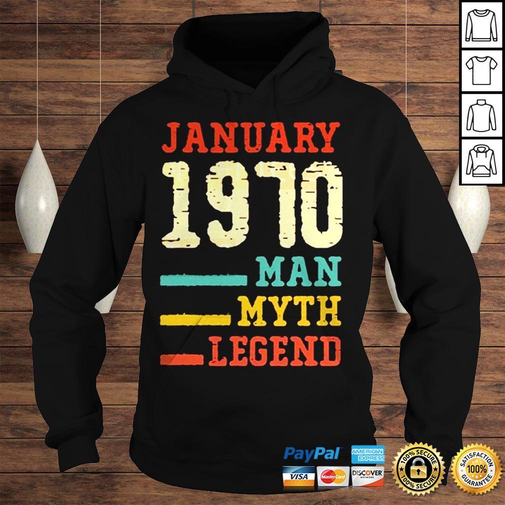 Vintage 50th birthday 1970 January Man Myth Legend TShirt Hoodie