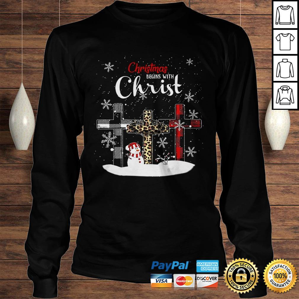 Chrismas Begins With Christ Jesus Christmas Begins With Christ Sublimation Shirt Longsleeve Tee Unisex