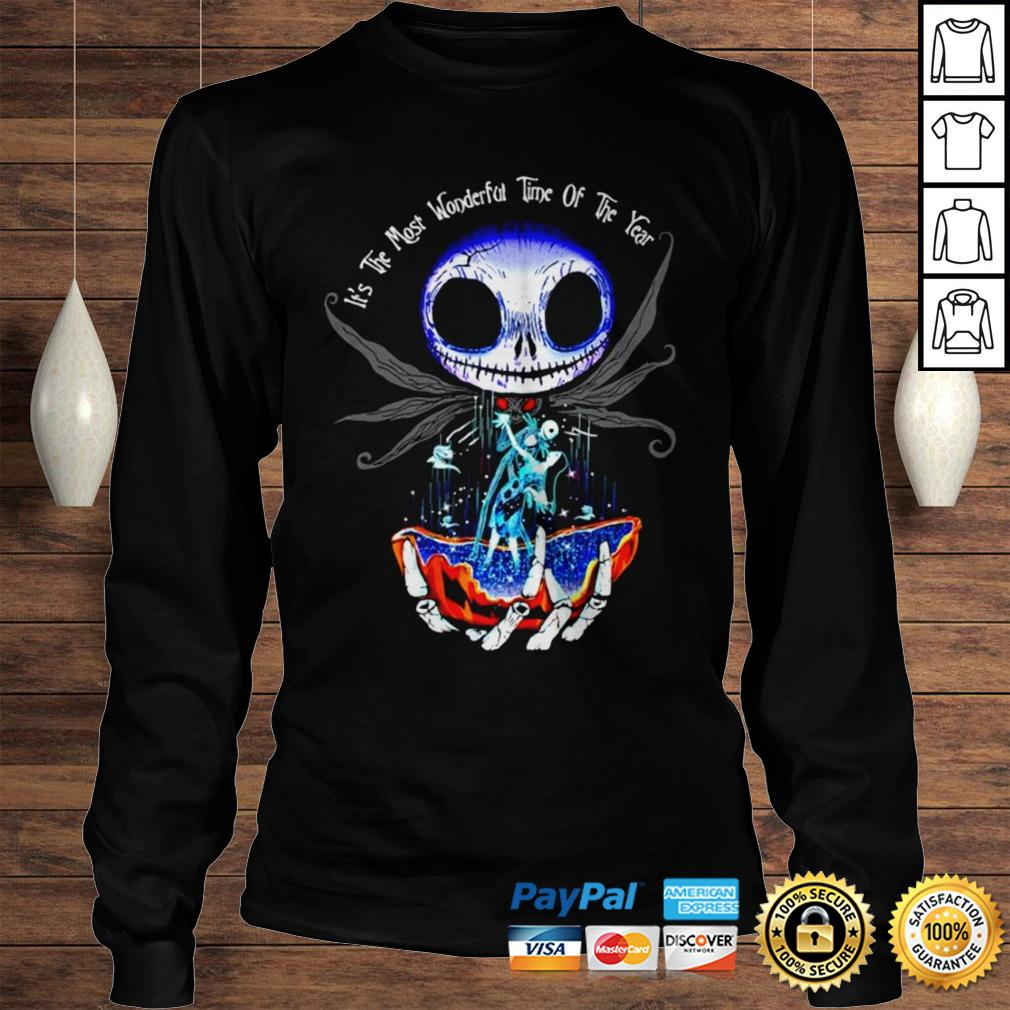 Jack Skellington and Sally its the most wonderful time of the year shirt Longsleeve Tee Unisex