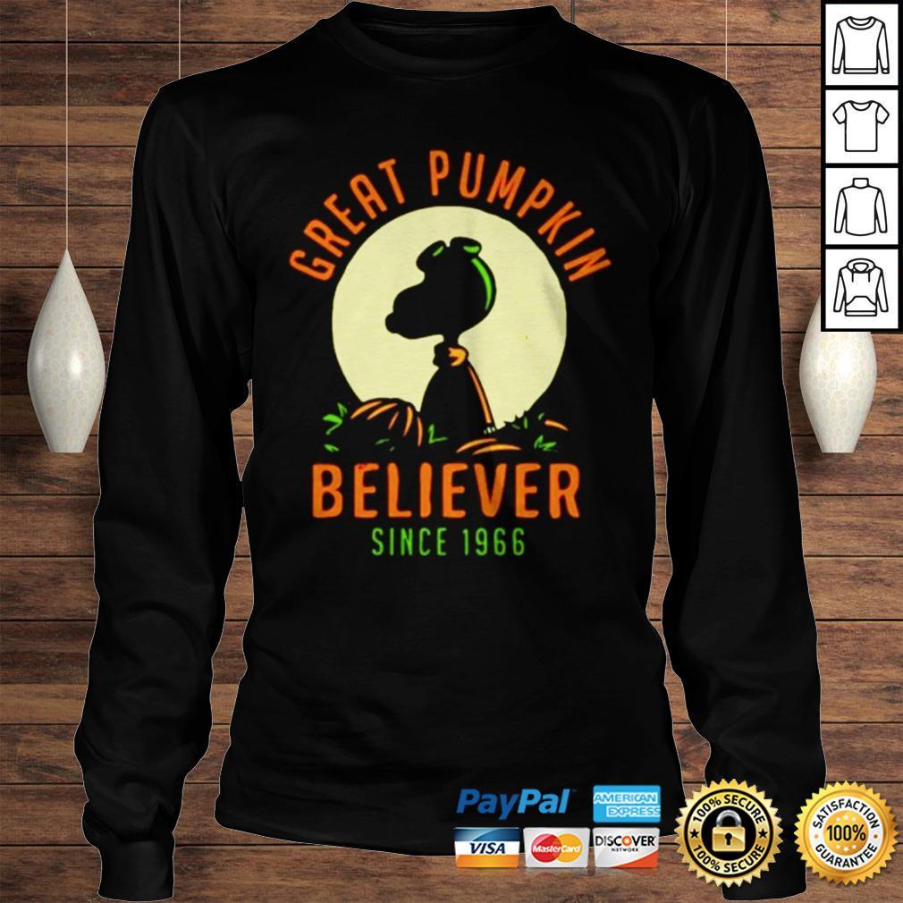 Peanuts great pumpkin believer since 1966 shirt Longsleeve Tee Unisex
