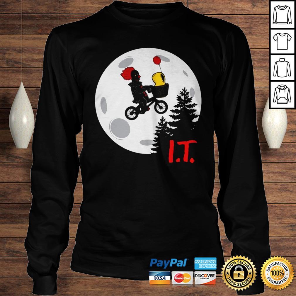 Pennywise IT Moon Halloween Shirt Longsleeve Tee Unisex