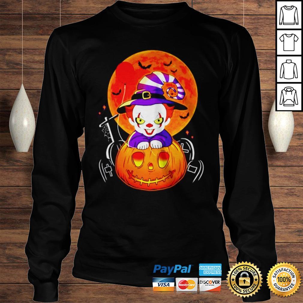 Pennywise pumpkin Halloween shirt Longsleeve Tee Unisex
