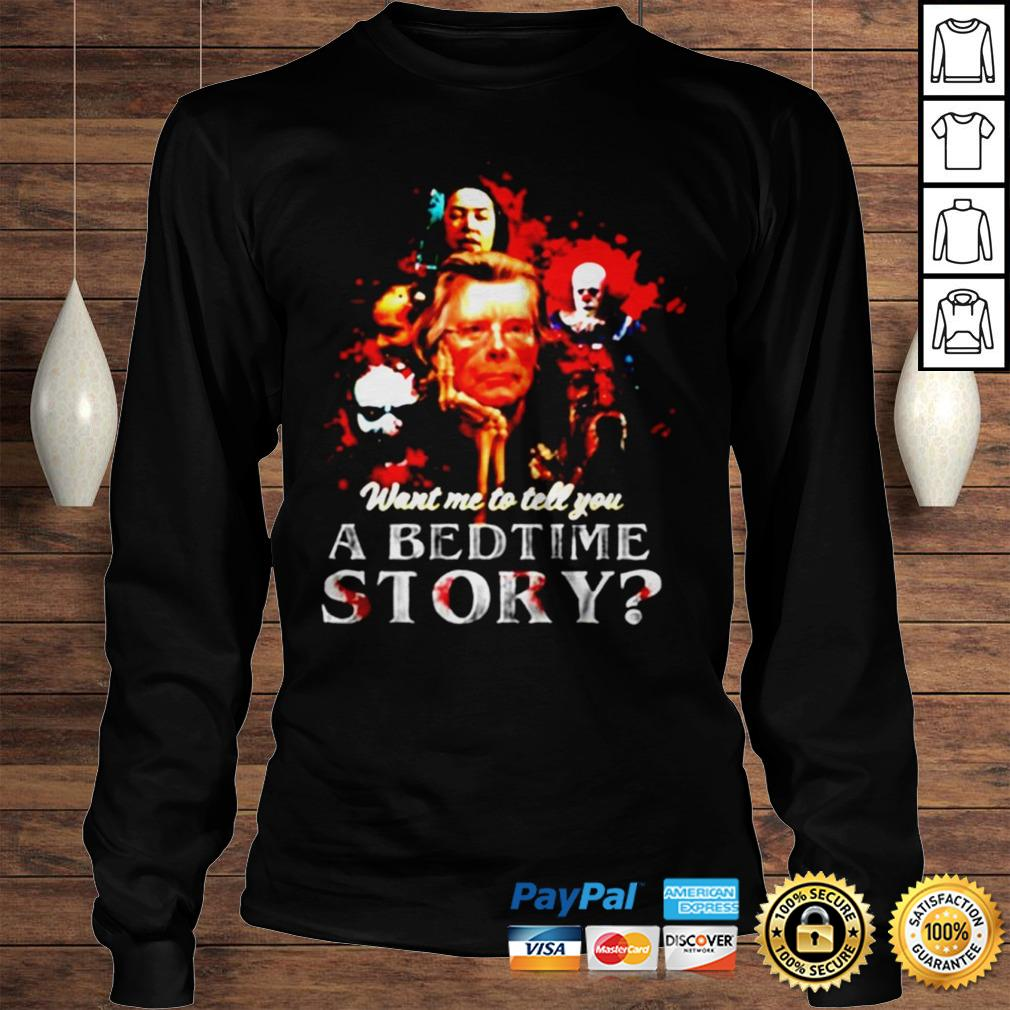 Pennywise want me to tell you a bedtime story Stephen King shirt Longsleeve Tee Unisex