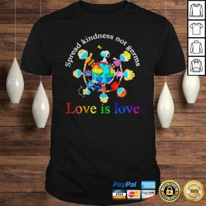 Peanuts character spread kindness not germs love is love shirt Shirt