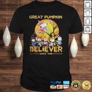 Peanuts great pumpkin believer since 1966 halloween tshirt Shirt