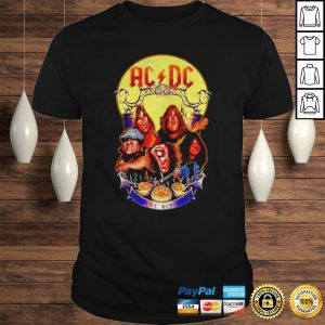 ACDC hard rock band Hail to the ACDC Halloween shirt Shirt