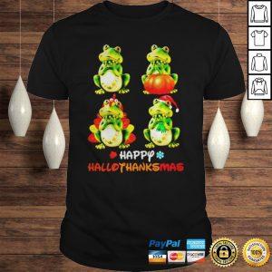 Frog Happy Hallothanksmas shirt Shirt