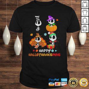 Jack Skellington Happy Hallothanksmas Halloween And Christmas Shirt