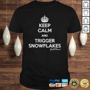 Keep calm and trigger snowflakes shirt Shirt
