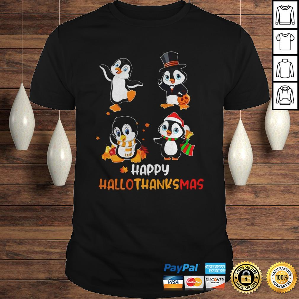 Penguin Happy Hallothanksmas Shirt