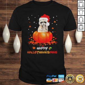 Raccoon happy hallothanksmas halloween thanksgiving christmas shirt Shirt