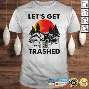 Raccoon lets get trashed halloween shirt Shirt