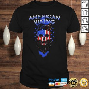 Skull beard american viking american flag shirt Shirt