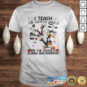 Teacher Teach The Cutest Owls Halloween 2020 School Tree Classic Shirt Shirt