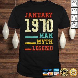 Vintage 50th birthday 1970 January Man Myth Legend TShirt Shirt