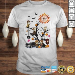 Supernatural Tree Halloween Pumpkin Shirt Shirt