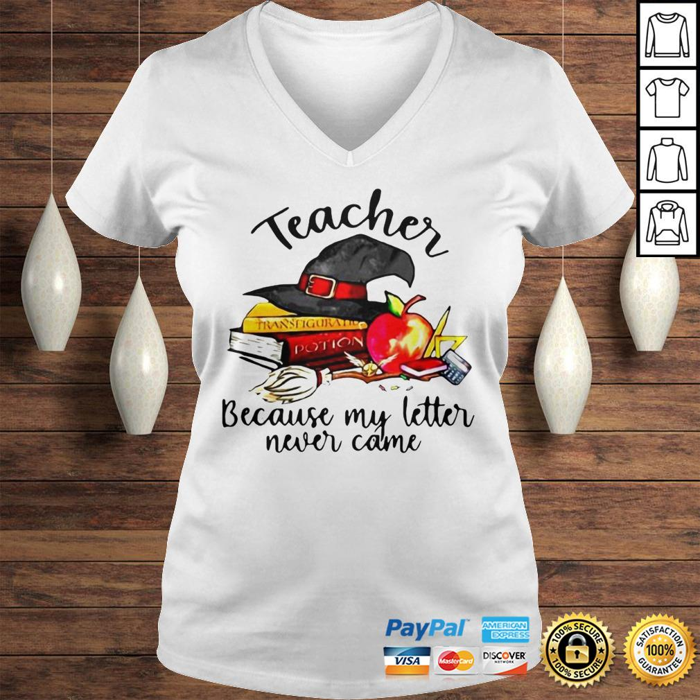 Official Teacher Because My Letter Never Came Halloween Hoodie Ladies V-Neck