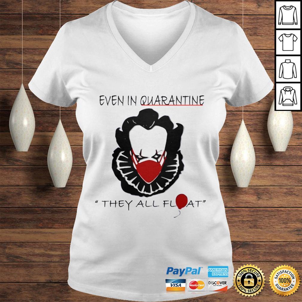 Pennywise Quarantine Halloween Horror Movies TShirt Ladies V-Neck