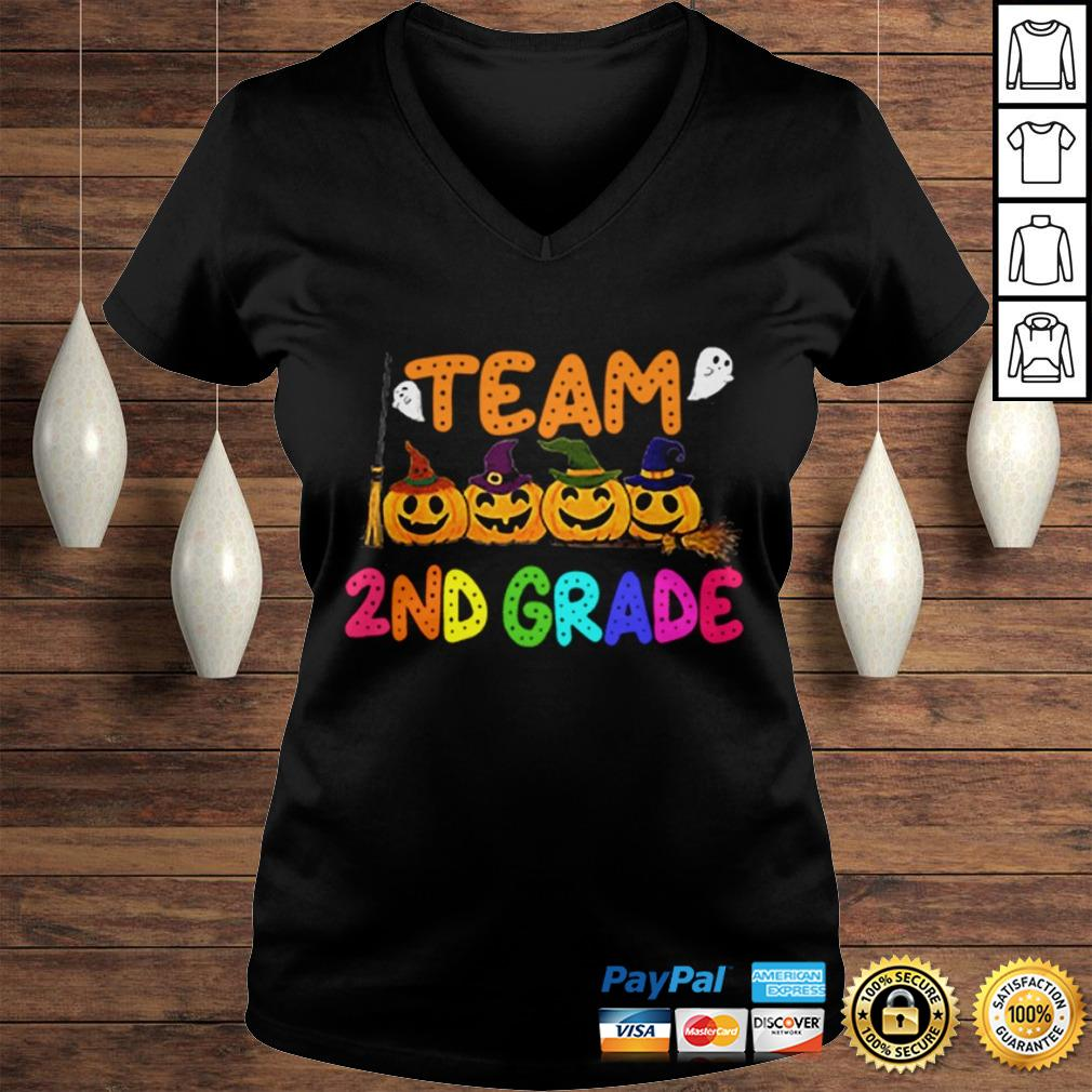 Team 2nd Second Grade Costumes For Student Shirt Ladies V-Neck