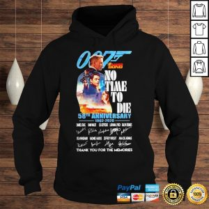 007 James Bond no time to die 58th anniversary signatures shirt Hoodie
