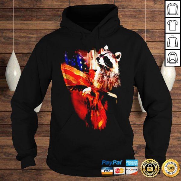 Raccoon American flag wings shirt Hoodie