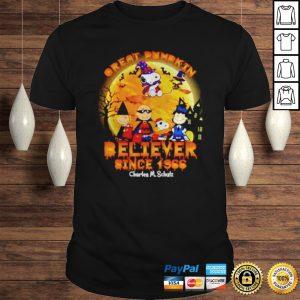 Peanuts great pumpkin believer since 1966 Charles MSchulz shirt Shirt