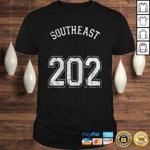 Southeast 202 Washington Dc Area Code Jersey Style Shirt Shirt