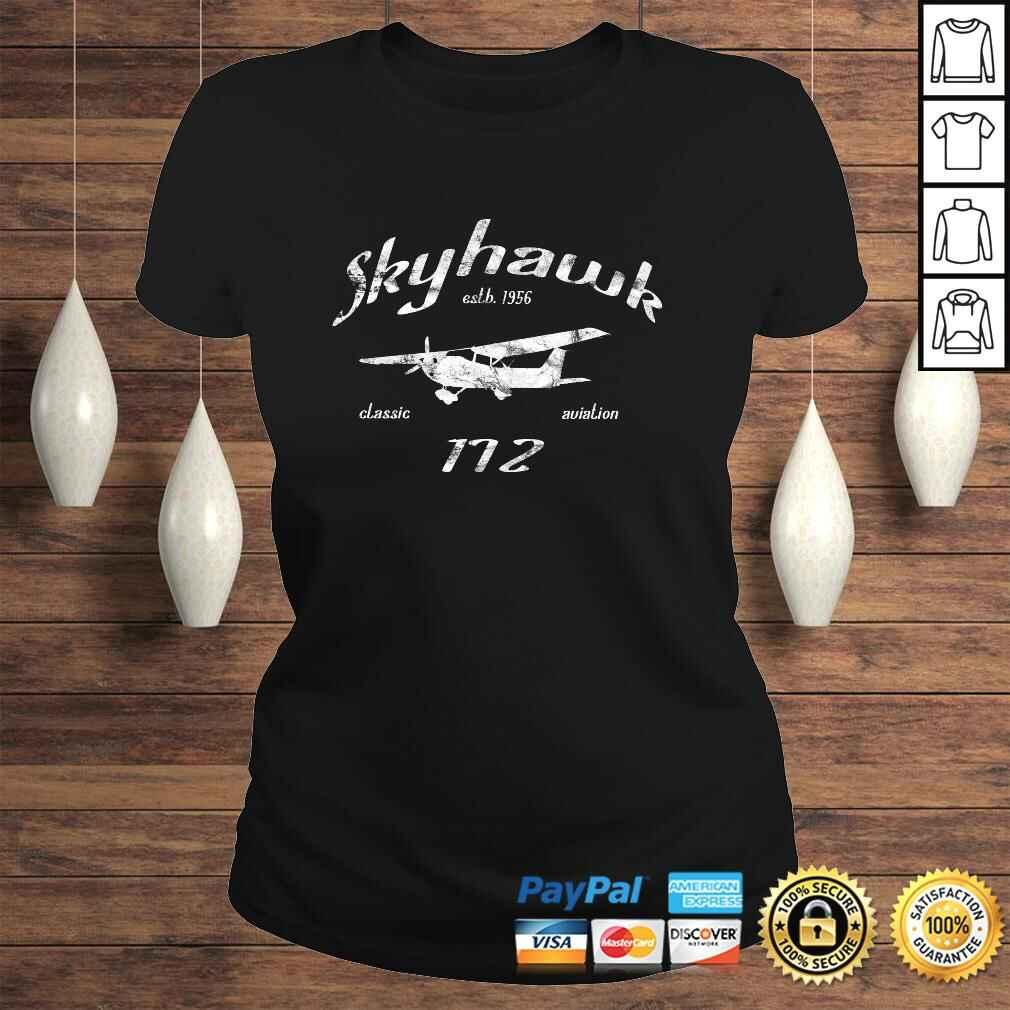 172 Skyhawk Airplane Classic Vintage Aviation Private PIlot Long Sleeve TShirt Classic Ladies Tee