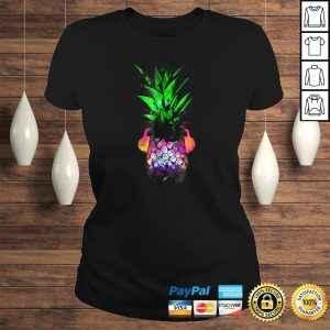 EDM Pineapple EDM Trippy Neon Rave Shirt Festival Dance