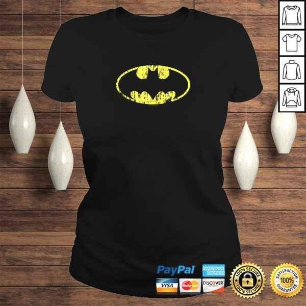 Official Batman Classic Logo Distressed TShirt Gift