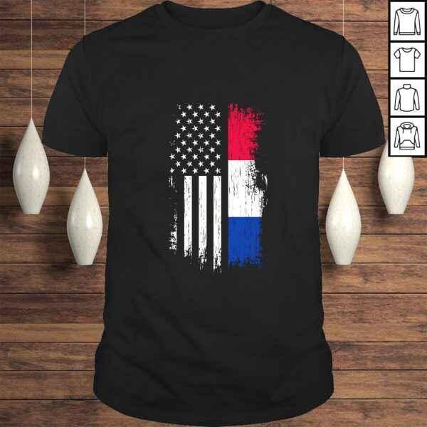 Dutch American Flag – Pride Netherlands USA Pullover Hoodie
