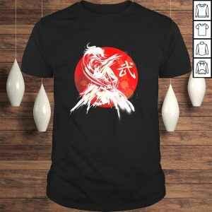 Female Samurai Japanese Warrior Retro Japan Calligraphy ArT-shirt