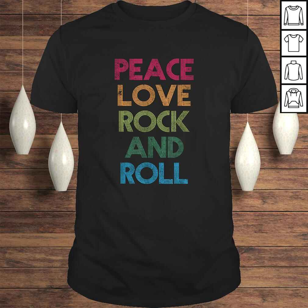 Funny Peace Love Rock And Roll, I Love Rock & Roll, Rock and Roll Shirt Tee Unisex