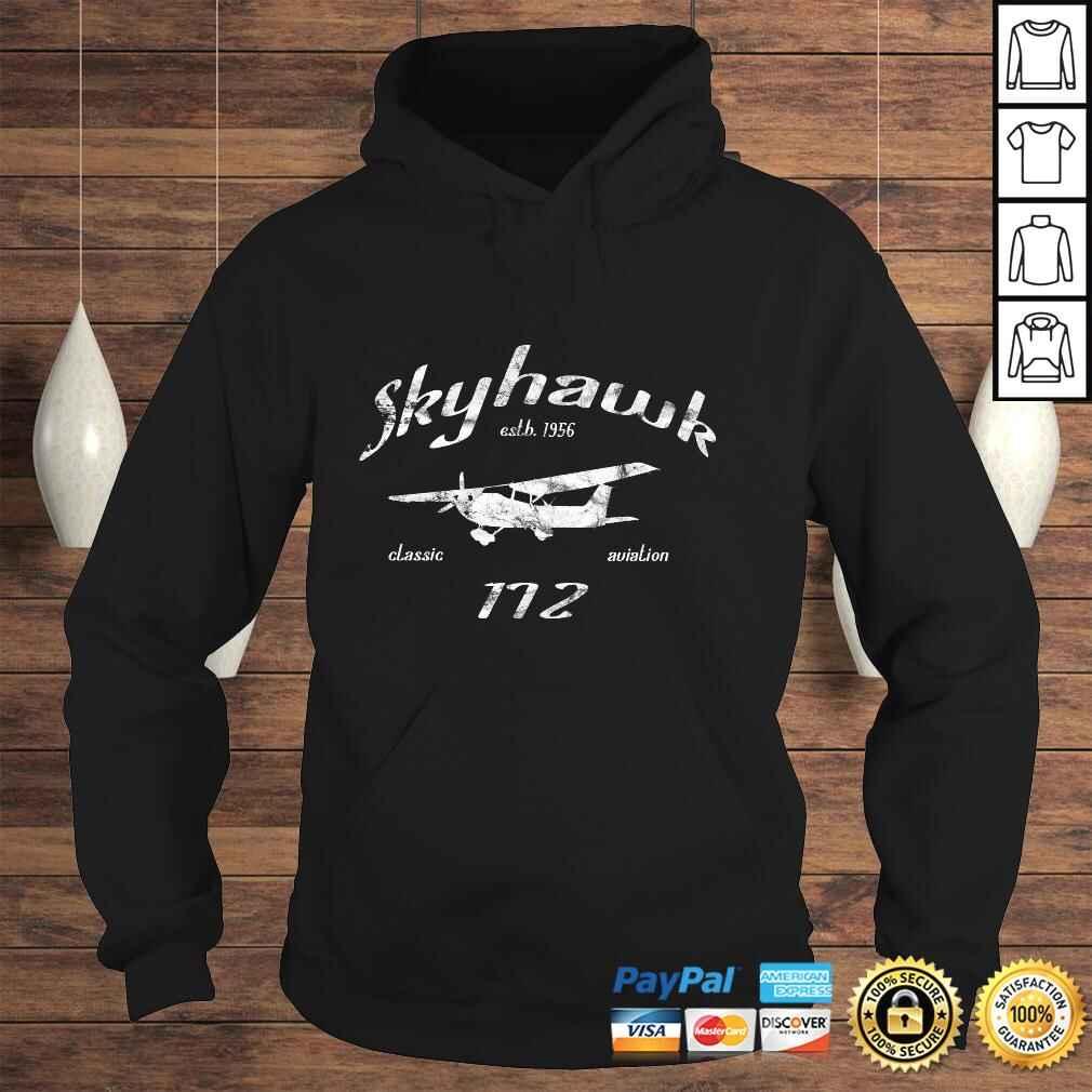172 Skyhawk Airplane Classic Vintage Aviation Private PIlot Long Sleeve TShirt Hoodie
