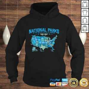 All U.S National Parks Map Camping 80s Graphic Long Sleeve TShirt Gift